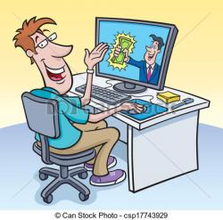 Geek clipart computer guy