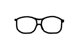 Drawn goggles nerd