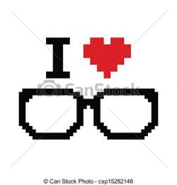 Geek clipart glass vector