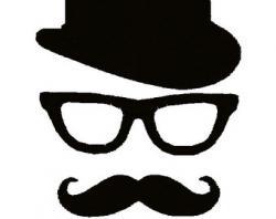 Top Hat clipart glass mustache