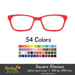 Hipster clipart square glass