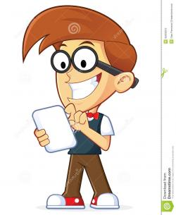 Geek clipart smart boy