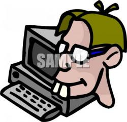 Geek clipart uses computer