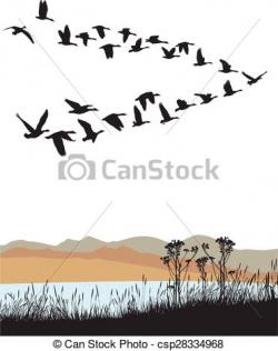 Geese Migration clipart small