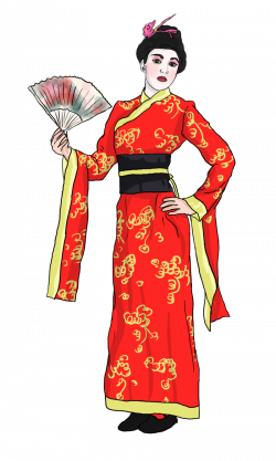 Folk clipart chinese dance