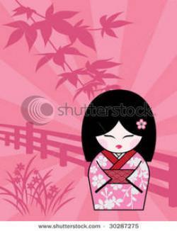 Kimono clipart cute japanese