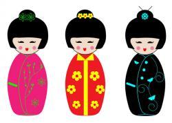 Geisha clipart doll
