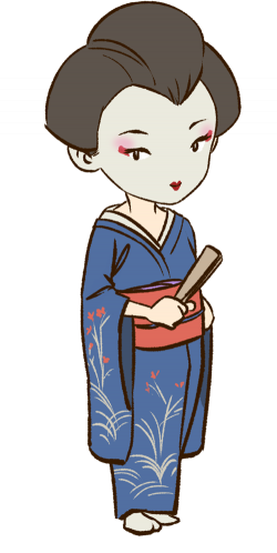 Geisha clipart japanese person