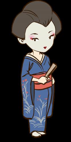 Geisha clipart japanese person