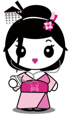 Geisha clipart kawaii