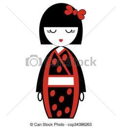 Kimono clipart geisha