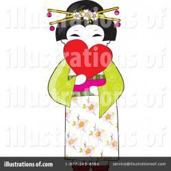 Geisha clipart vector