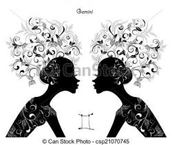 Gemini clipart drawing