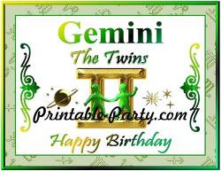 Gemini clipart happy birthday