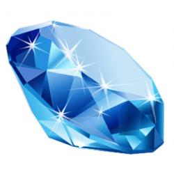 Gems clipart blue diamond