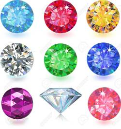 Gems clipart colourful heart