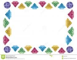 Gems clipart diamond border