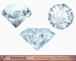 Crystals clipart diamond