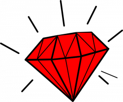 Ring clipart red diamond