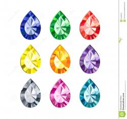 Color clipart gemstone