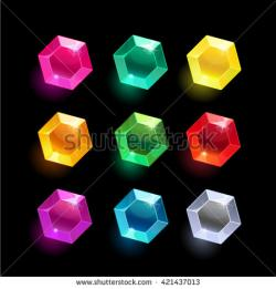 Gems clipart hexagon