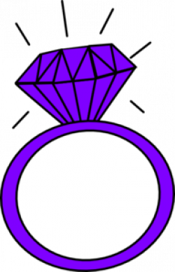 Ring clipart purple diamond