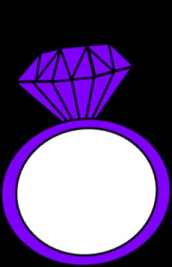 Ring clipart purple diamond