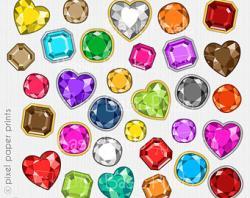 Gems clipart rainbow