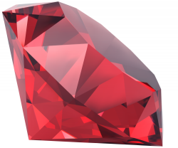 Crystals clipart red diamond
