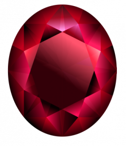 Ruby clipart oval