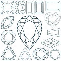Square clipart gemstone