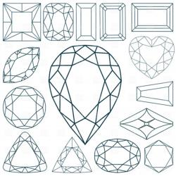 Ruby clipart diamond outline