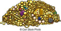 Treasure clipart pile treasure