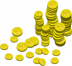 Treasure clipart gold coin