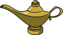 Genie Lamp clipart cartoon