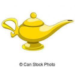 Oil Lamp clipart genie bottle