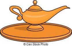 Oil Lamp clipart genie lamp