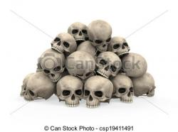Genocide clipart scull