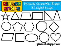 Geometry clipart primary color