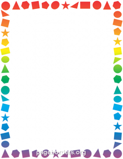 Geometry clipart shapes border