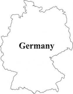 Germany clipart black and white