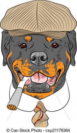 Rottweiler clipart sketch