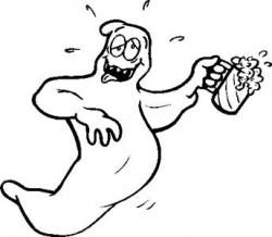 Ghostly clipart drunk