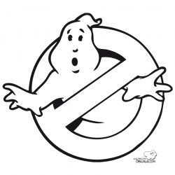 Ghostbusters clipart coloring page