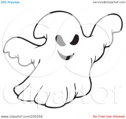 Ghostly clipart presentation outline