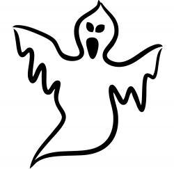 Drawn ghostly kid