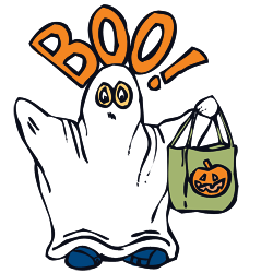Haunted clipart friendly ghost