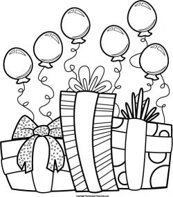 Monochrome clipart birthday