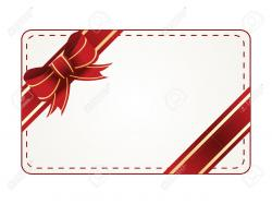Red clipart gift tag