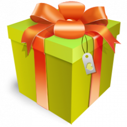 Larger clipart gift box